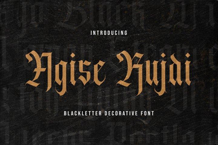 Agise Rujdi - Blackletter Decorative Font