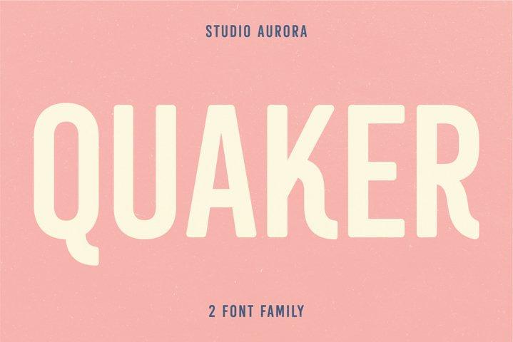 Quaker - Sans Serif Americana Font
