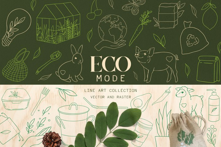 Eco clipart, Zero waste clipart, eco friendly art, Vegan art