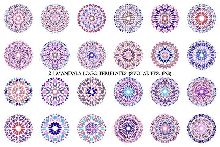 24 Floral Mandala Logo Templates example