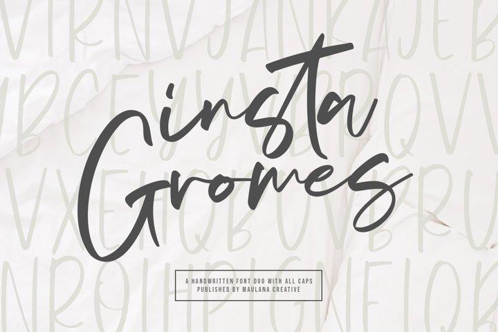 Insta Gromes - Font Duo