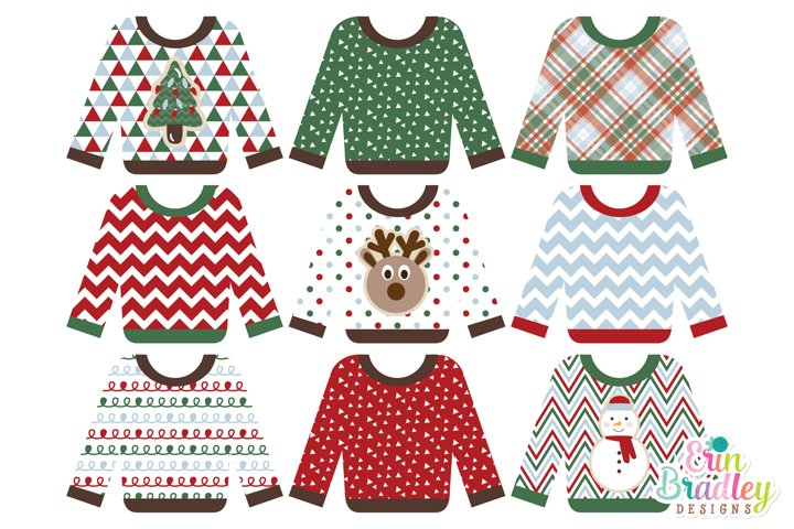 Christmas Clipart - Ugly Sweater Party
