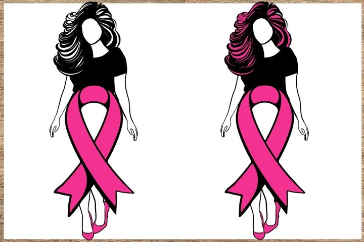 Breast cancer Bundle SVG 3 Designs Cancer awareness SVG