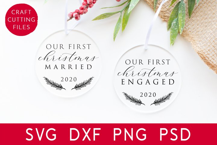 Our First Christmas SVG | Christmas Ornament Svg Cut File