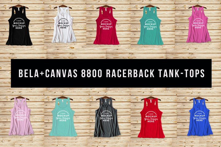 Bella Canvas 8800 racerback tank-top mock-ups