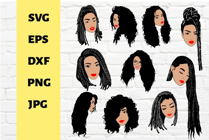 10 Color svg Black woman svg,black girl magic,cricut, braids