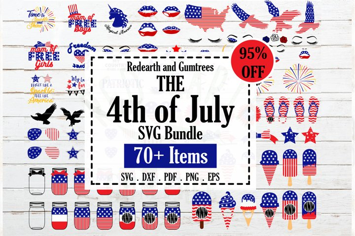 Fourth of July Bundle SVG,4th of July quotes,monograms,stars