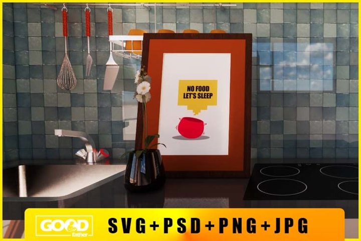 Free Poster Design For Wall Kitchen Decoration SVG,PNG,PSD