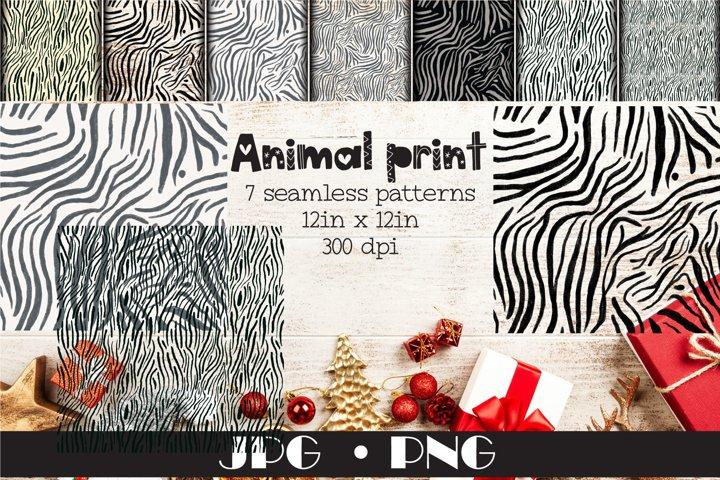 Animal print seamless pattern JPG PNG