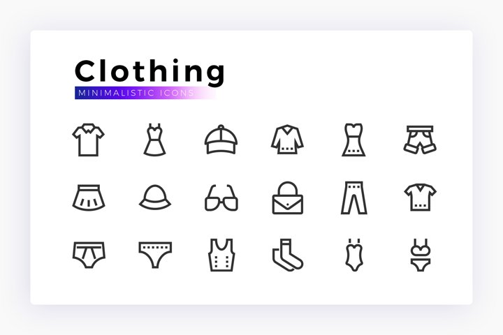 Clothing & Accessories Minimalistic SVG Icon Set