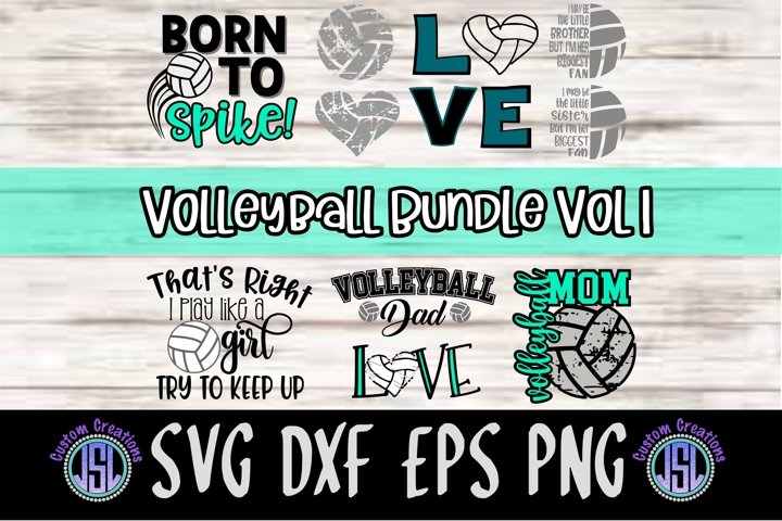 Volleyball Bundle Vol 1 |Set of 10 | SVG DXF EPS PNG
