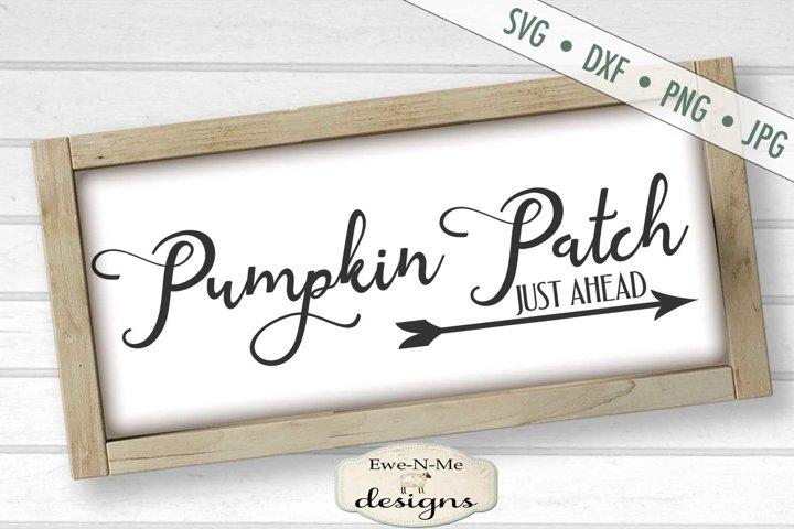 Pumpkin Patch Ahead | Fall | Autumn | Arrow | Pumpkin SVG