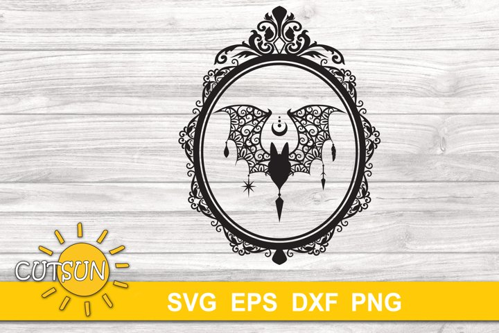 Halloween SVG | Halloween Bat SVG | Zentangle Bat SVG