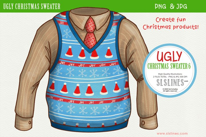 Ugly Christmas Sweater Vest 6 PNG Clipart