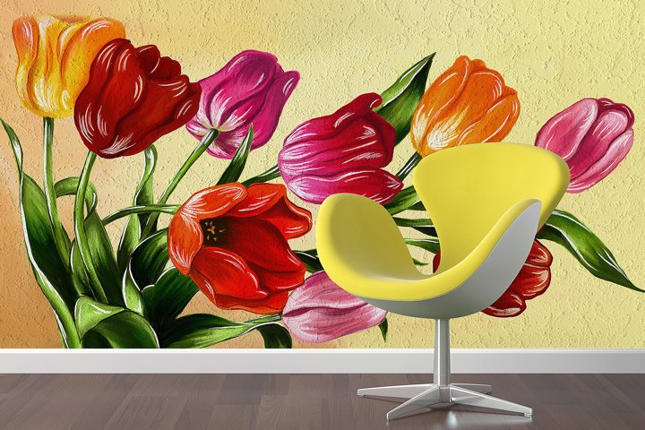 Tulips digital painting example 3