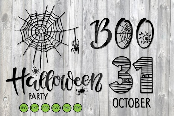 Halloween Party SVG. Holiday decor Halloween symbol bundle