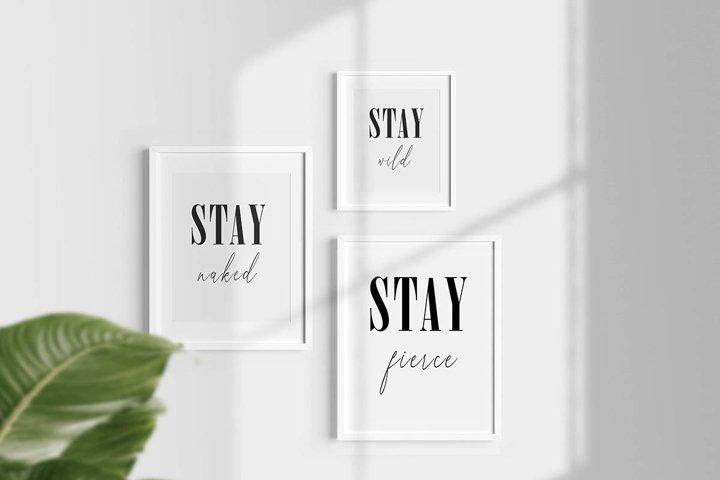 Set Of 3 Art Prints - Typography Wall Art, Printable poster