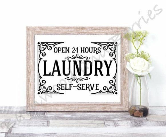 24 Hour Laundry SVG