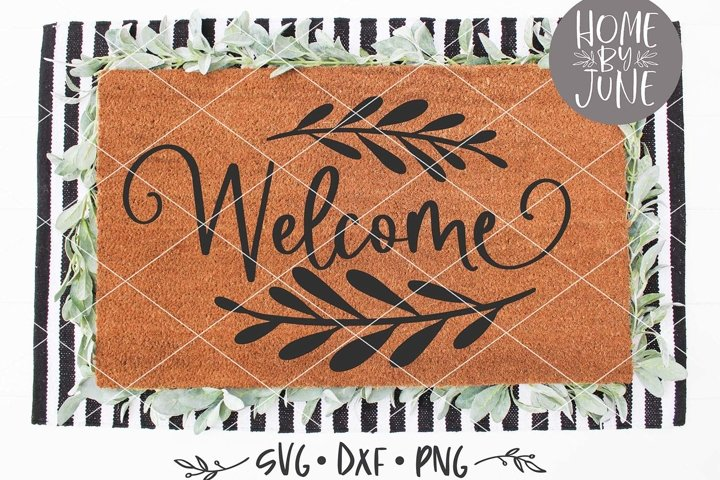 Welcome Halloween Doormat SVG DXF PNG