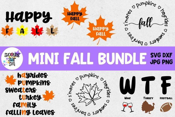 Mini Fall SVG Bundle - Autumn SVGs - Thanksgiving SVGs