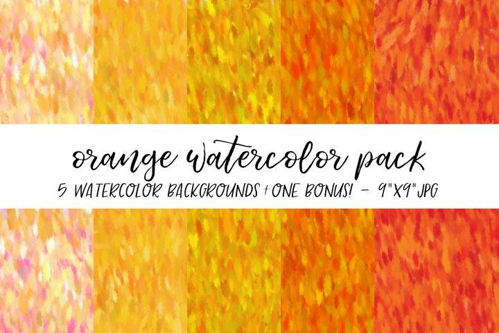 Orange Watercolor Backgrounds