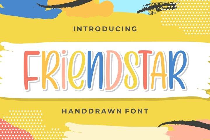 Friendstar - Handdrwan Font