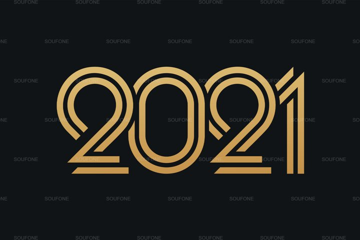3x 2021 Happy New Year EPS - SVG
