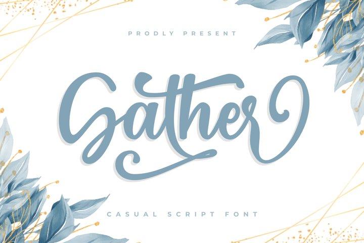 Gather - Craft Font