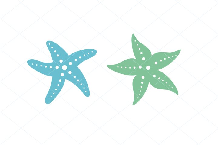 Cute Starfish SVG PNG Digital File Clipart Traceable