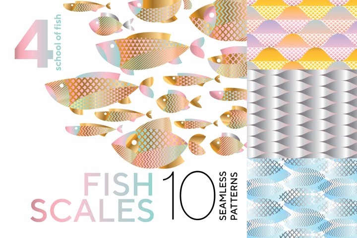 Modern fish scales patterns and fish