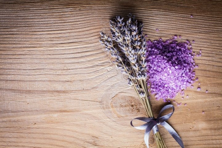 Lavender bunch and sea salt