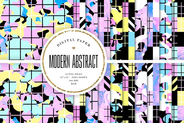 Modern Digital Paper - Abstract Trendy Backgrounds