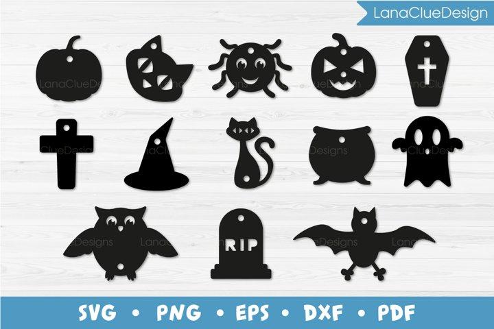 13 Halloween Gift Tags Bundle SVG Cut Files