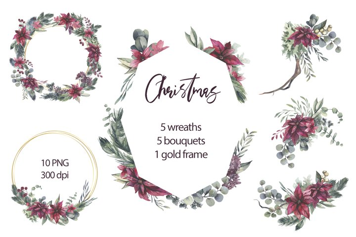 Christmas Wreaths and Bouquets.