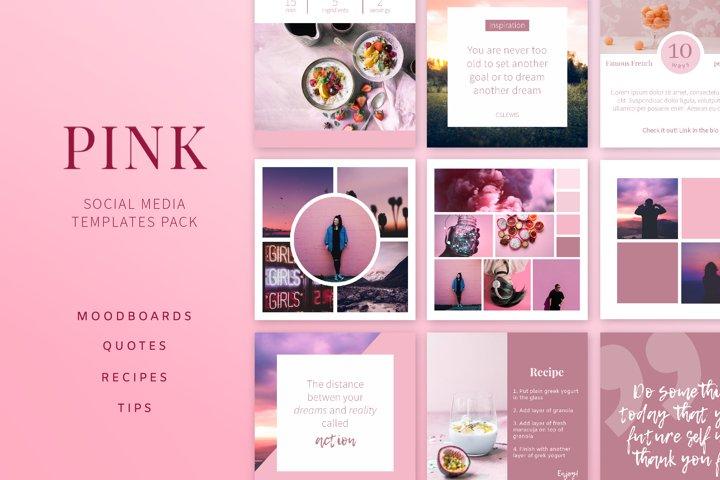 PINK   Social Media Templates Pack