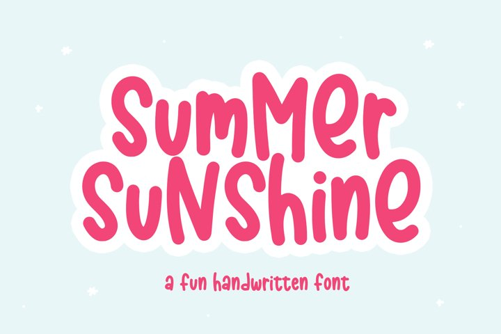 Summer Sunshine - A Fun Handwritten Font