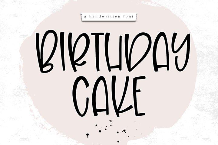 Birthday Cake - A Handwritten Font