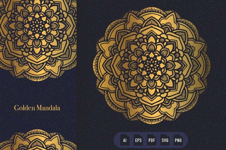 Golden Mandala Art 06