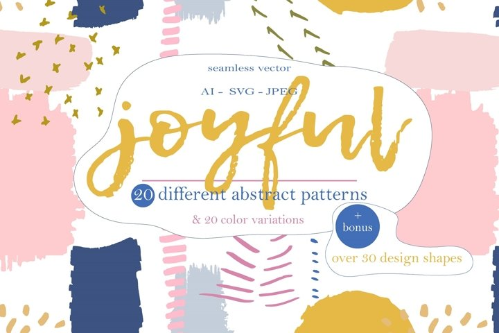Joyful abstract patterns and shapes