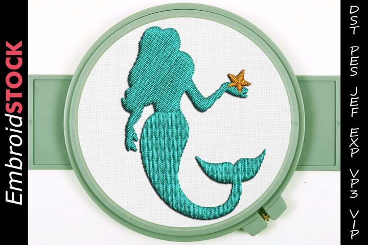 Little Mermaid Embroidery Design