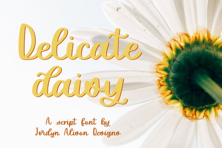 Delicate Daisy, Smooth Script Font