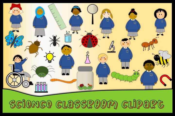 School or Teacher Clipart Science 84 pieces SVG &PNG