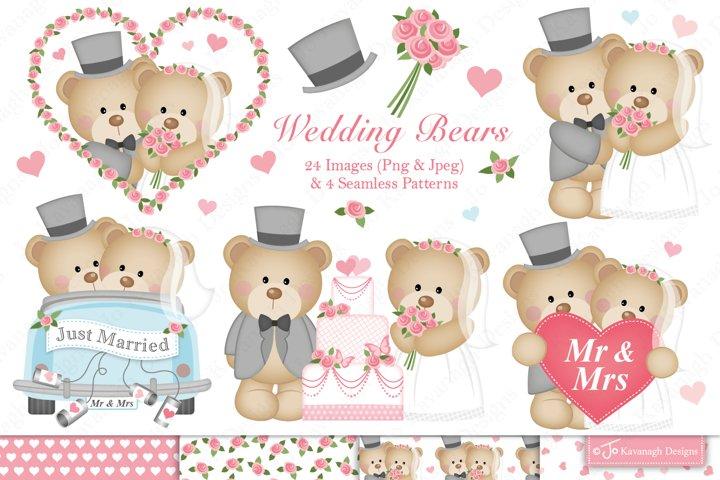 Wedding bears clipart -C34