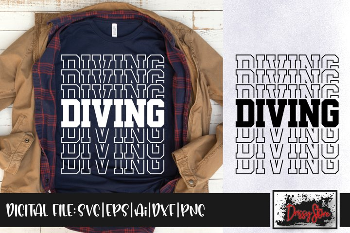 Diving SVG DXF Ai EPS PNG