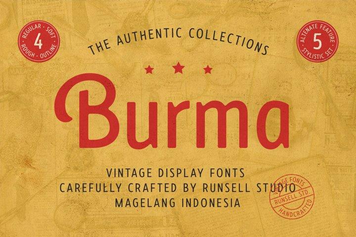 Burma Vintage Font Collection