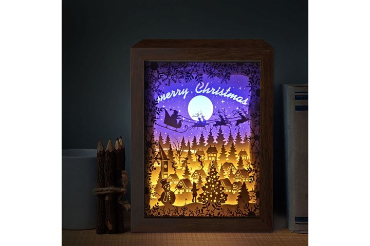 XMAS 16 3D Paper Cutting Light Box - Shadow Box