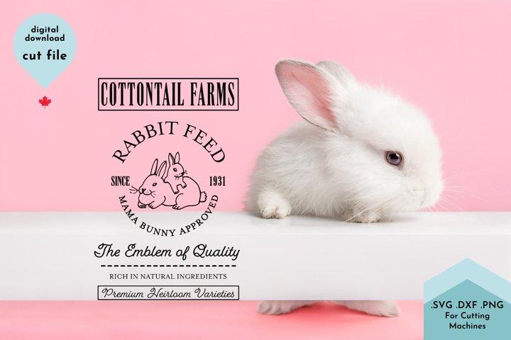 Easter Sign, Spring Decor, Farmhouse, Rabbit Feed example 2