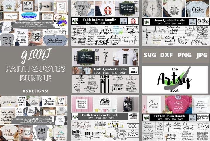 MEGA Faith quotes Bundle, Christian quotes bundle, faith svg