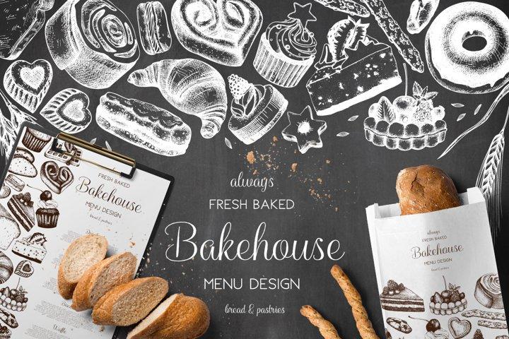 Bakery Menu Design