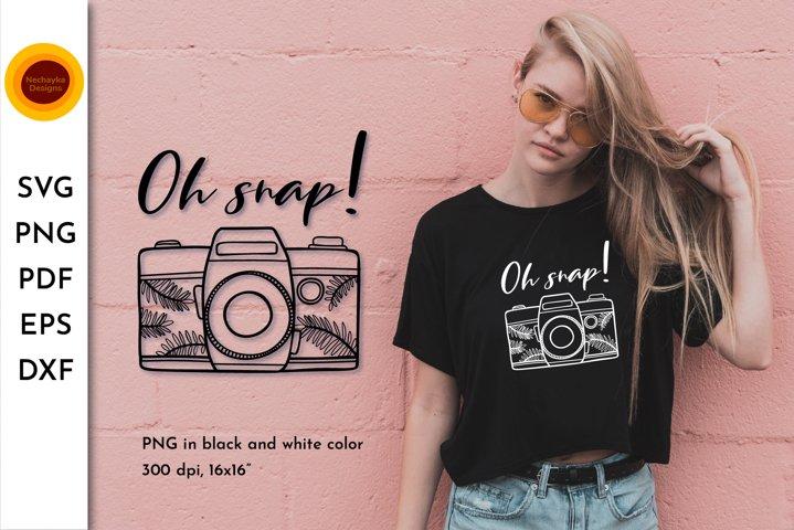 Oh snap SVG. Camera SVG. Retro camera. Camera png Camera art